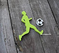 Dekorácie - silueta futbalistu + lopta - 10394132_