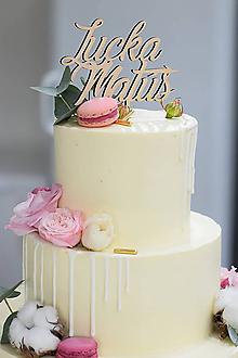 Dekorácie - Zápich na svadobnú tortu I - 10393278_