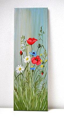 Obrazy - Maľovaný obraz-Vo vánku - 10394543_