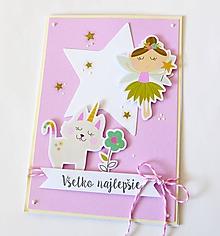Papiernictvo - pohľadnica s vílou - 10393338_