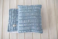 Textil - Teplá deka a vankúšik pre chlapčeka, OEKO-TEX® - Melír/Denim - 10394726_