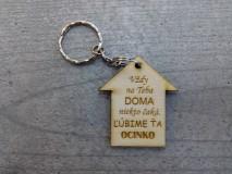 Kľúčenky - Drevená kľúčenka - 10394312_