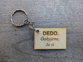 Kľúčenky - Drevená kľúčenka - 10394365_
