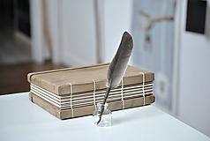 Papiernictvo - Kaligrafické brko na písanie atramentom - 10395716_