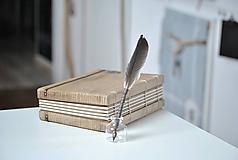 Papiernictvo - Kaligrafické brko na písanie atramentom (OLD ROSE) - 10395720_