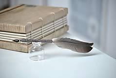 Papiernictvo - Kaligrafické brko na písanie atramentom (OLD ROSE) - 10395722_