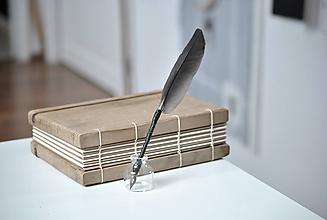 Papiernictvo - Kaligrafické brko na písanie atramentom - NOIR - 10395710_