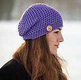 Čiapky - Fialová čiapka - 10393173_