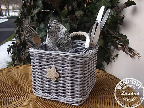 1c599f85f Košíček na príbor 14x14x13 / pletenie-zuzana - SAShE.sk - Handmade ...