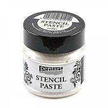 Farby-laky - Šablónovacia pasta, perleťová, ľadový kvet- 50ml - 10396698_