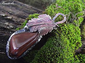 Náhrdelníky - Prinesený z lesa......(býčie oko) - 10395004_