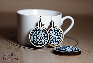 Sady šperkov - Set MODROTLAČ lúka (4cm a 5cm) - 10397320_