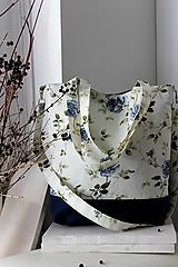 Veľké tašky - Jarná kvetinová veľká taška - 10395183_