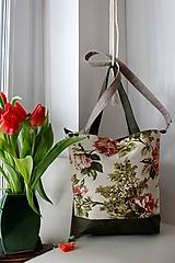 Veľké tašky - Jarná kvetinová  veľká taška - 10396127_