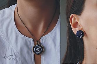 """Sady šperkov - """"Modrotlač"""" (náušnice + náhrdelník) I. - 10394179_"""