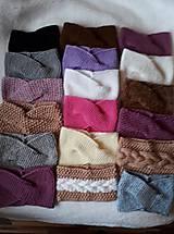 Čiapky - Pletené čelenky – rôzne farby a vzory - 10396348_