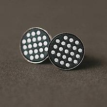 Šperky - elegán (strieborné bodky na čiernej) - 10396780_