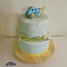 Dekorácie - Zápich na tortu meno a číslica - 10394145_