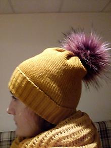 Čiapky - Pletené čiapky - 10396270_