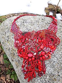 """Náhrdelníky - Červený """"hviezdny"""" náhrdelník - 10394915_"""