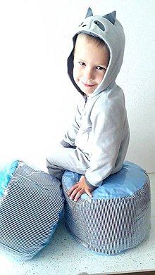 Úžitkový textil - Pufík (Modrá) - 10396417_
