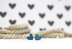 Náušnice - mini ♥ - 10395546_