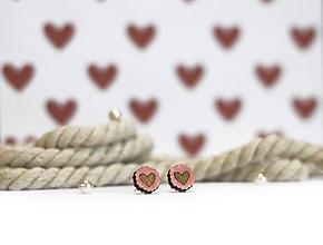Náušnice - Mini čipkovance ♥ (Ružová) - 10395429_