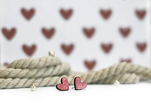 Náušnice - mini ♥ (Ružová) - 10395500_