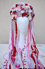 Ozdoby do vlasov - Romantická (ne)tradičná svadobná parta - 10395318_