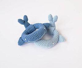 Hračky - Veľryba - hrkálka - 10395463_