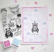 Papiernictvo - Pohľadnica unicorn kisses - 10396053_
