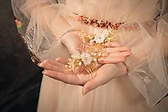 """Ozdoby do vlasov - Kvetinový svadobný set """"to, čo mám na srdci"""" - 10395751_"""