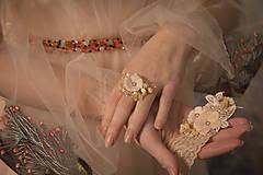 """Ozdoby do vlasov - Kvetinový svadobný set """"to, čo mám na srdci"""" - 10395752_"""