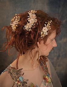 """Ozdoby do vlasov - Kvetinový svadobný set """"to, čo mám na srdci"""" - 10395750_"""