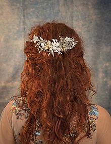 """Ozdoby do vlasov - Kvetinový set """"perly noci"""" - 10395763_"""