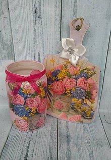 Dekorácie - Lopárik+váza - 10394055_