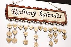 Dekorácie - Rodinný kalendár - 10395918_