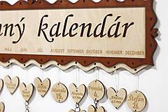 Dekorácie - Rodinný kalendár - 10395931_