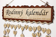 Dekorácie - Rodinný kalendár - 10395936_