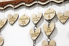 Dekorácie - Srdiečko alebo Krúžok na Rodinný kalendár - 10396005_