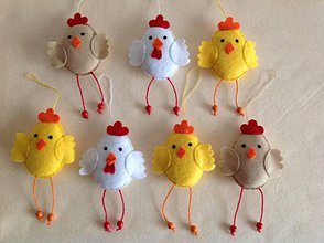 Dekorácie - Veľkonočné dekorácie kuriatko sliepka kohút - 10394878_
