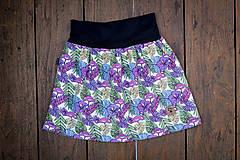 Na slnku zmení farbu - Kúzelná sukňa vzor Monstera