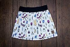 Na slnku zmení farbu - Kúzelná sukňa vzor Chrobáčiky