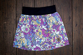 Detské oblečenie - Na slnku zmení farbu - Kúzelná sukňa vzor Kvietky - 10393399_