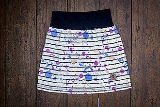 Detské oblečenie - Na slnku zmení farbu - Kúzelná sukňa vzor Prúžky - 10393422_