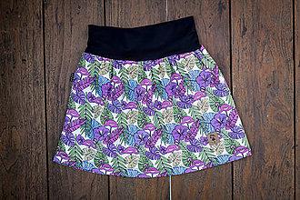 Detské oblečenie - Na slnku zmení farbu - Kúzelná sukňa vzor Monstera - 10393591_
