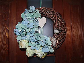 Dekorácie - Veniec na dvere Hortenzia - 10395719_