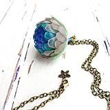 Náhrdelníky - Listopadka- ledový, náhrdelník z PET - 10393093_