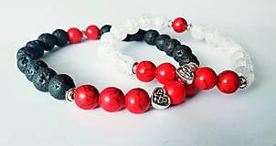 Náramky - Partnerské náramky z lávového kameňa - 10394534_