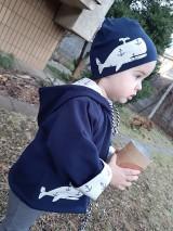 Detské oblečenie - Veľryba Klaudia (bunda + čiapka) - 10395230_